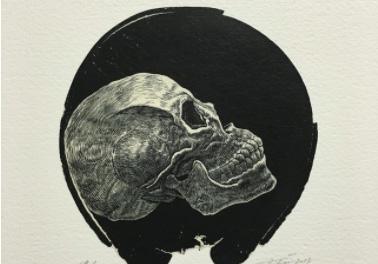 Zeitgenössische Holzschnitte von Takehiro Nikai, Chika Osaka, Sho Tanaka, Jun Yoshida und Katsutoshi Yuasa.